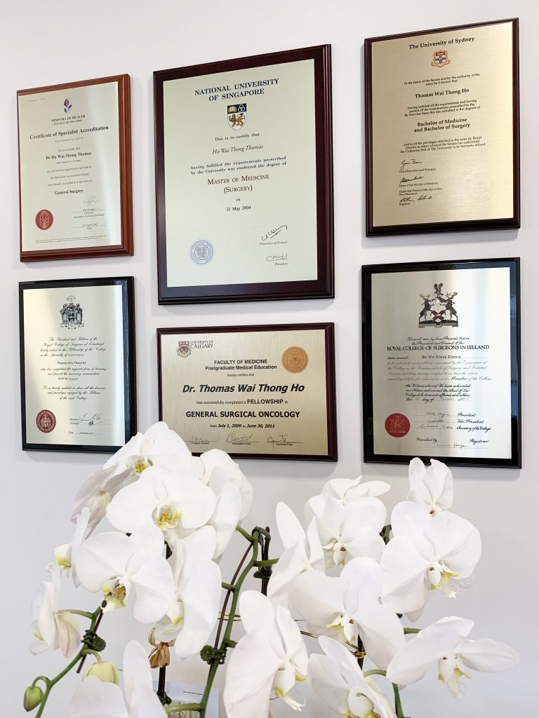 Dr Thomas Ho Certificate
